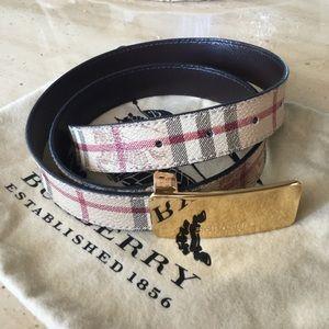 Burberry nova Leather Belt